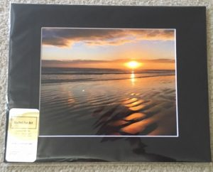 New Smyrna Beach Sunrise 11x14 Matted Photo (black)