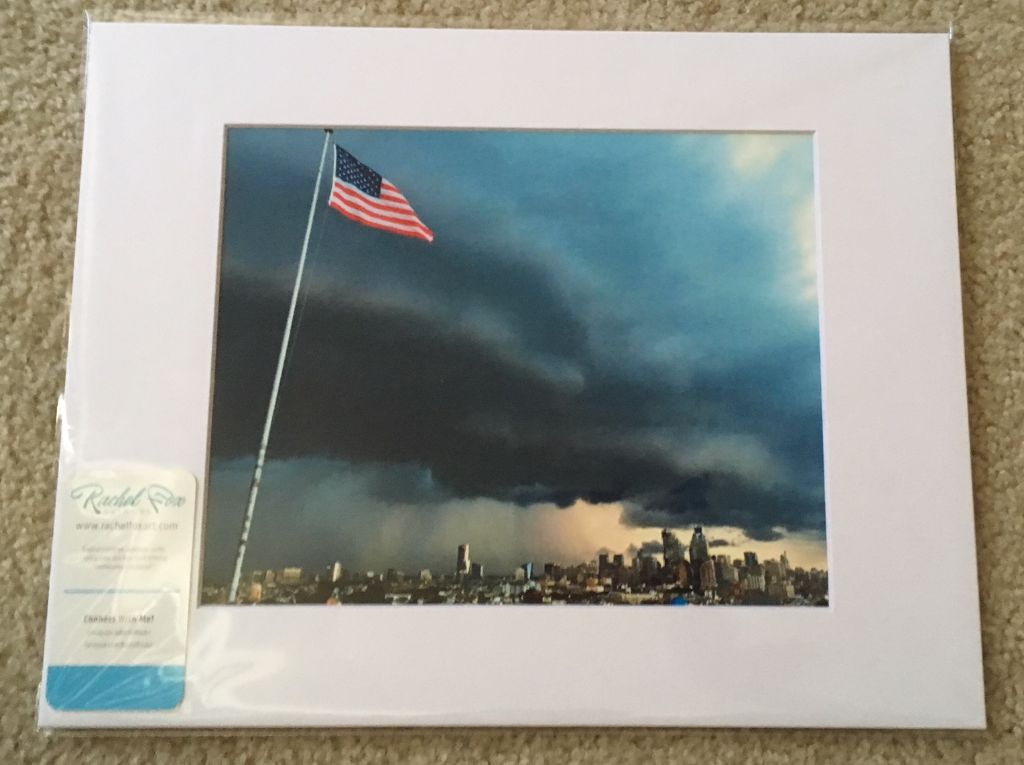 Philly Flag 11x14 Matted Photo