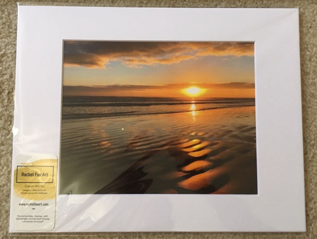 New Smyrna Beach Sunrise 11x14 Matted Photo (white)